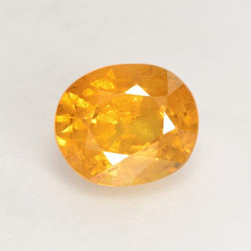 Medium Orange Sapphire Gem - 1.6ct Oval Facet (ID: 532543)