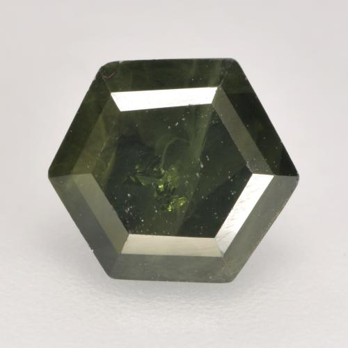 Forest Green Sapphire Gem - 1.6ct Hexagon Cut (ID: 533845)