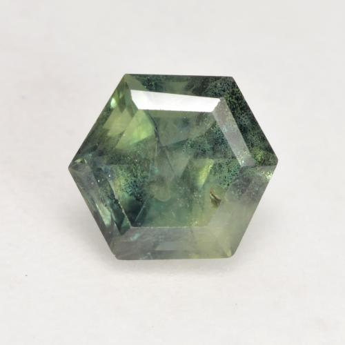 Brownish Green Sapphire Gem - 1.2ct Hexagon Cut (ID: 533846)