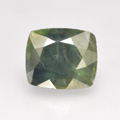 Sage Green Sapphire Gem - 1.3ct Cushion-Cut (ID: 533854)