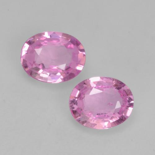 Bright Pinkish Purple Zafiro Gema - 0.3ct Forma ovalada (ID: 534326)