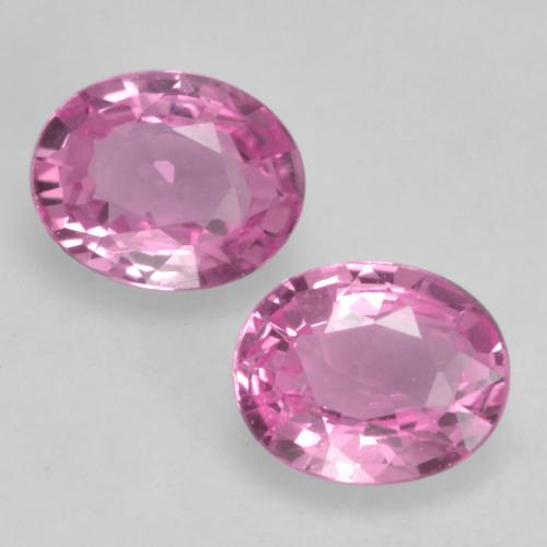 Royal Purple Pink Sapphire Gem - 0.4ct Oval Facet (ID: 534333)