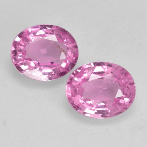 Royal Purple Pink Sapphire Gem - 0.4ct Oval Facet (ID: 534342)