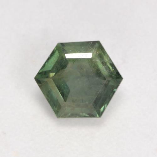Warm Green Sapphire Gem - 0.7ct Hexagon Cut (ID: 534360)