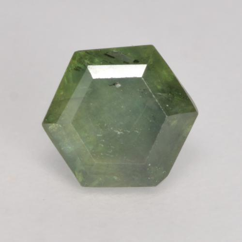 Medium Light Green Sapphire Gem - 0.8ct Hexagon Cut (ID: 534361)