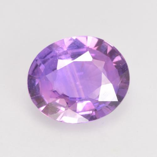 Light Pinkish Purple Sapphire Gem - 0.7ct Oval Facet (ID: 534648)