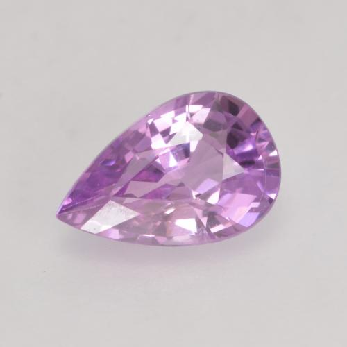 Pinkish Violet Purple Sapphire Gem - 0.6ct Pear Facet (ID: 534653)