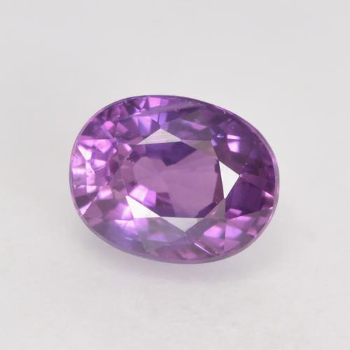 Medium Purple Saphir Edelstein - 1ct Oval facettiert (ID: 534907)
