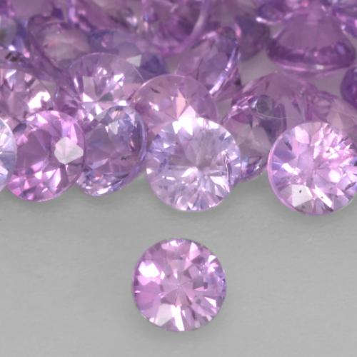 Medium Pinkish Purple Saphir Edelstein - 0.1ct Diamanten-Schliff (ID: 534917)