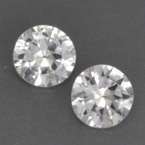 White Sapphire Gem - 0.3ct Diamond-Cut (ID: 534922)
