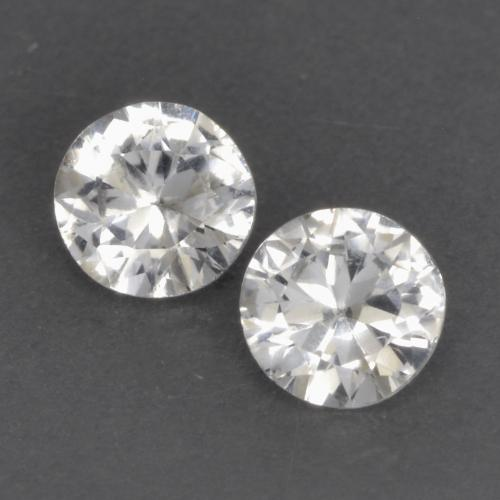 White Sapphire Gem - 0.3ct Diamond-Cut (ID: 534923)