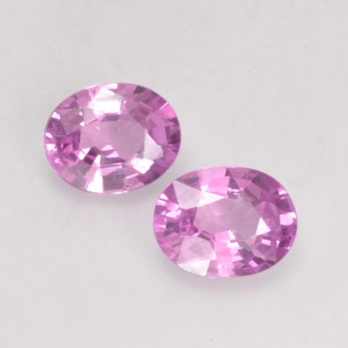 Purple-Pink Sapphire Gem - 0.4ct Oval Facet (ID: 535204)