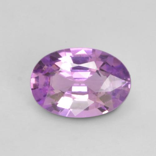 Electric Purple Sapphire Gem - 0.6ct Oval Facet (ID: 535383)