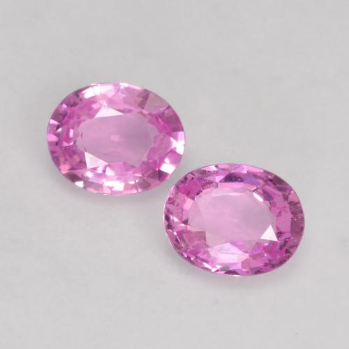 Intense Purple Sapphire Gem - 0.3ct Oval Facet (ID: 535711)