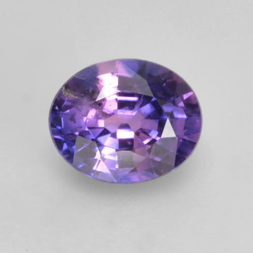 Purple-Pink Sapphire Gem - 0.7ct Oval Facet (ID: 535767)