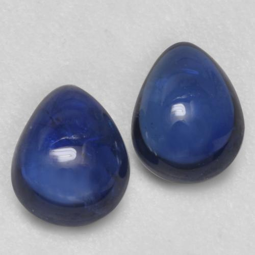 Twilight Blue Sapphire Gem - 0.5ct Pear Cabochon (ID: 535887)