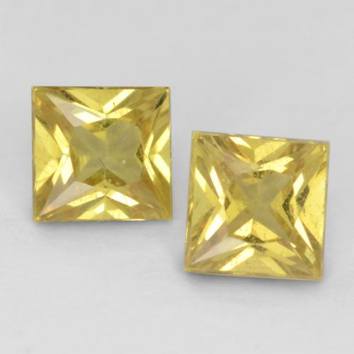 Light Yellow Sapphire Gem - 0.3ct Princess-Cut (ID: 536575)