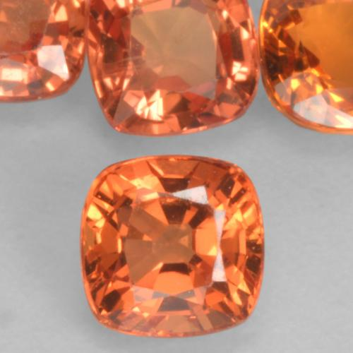 0.5ct Cushion-Cut Medium Orange Sapphire Gem (ID: 536896)