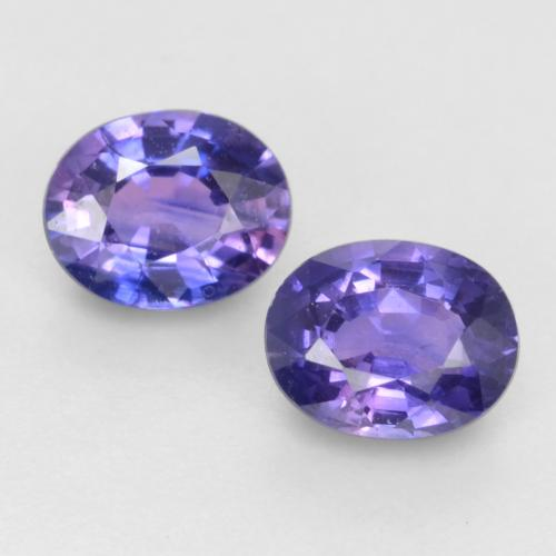 Dark Bluish Purple Sapphire Gem - 0.5ct Oval Facet (ID: 536997)