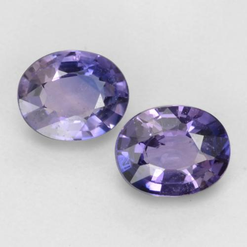 Intense Purple Sapphire Gem - 0.4ct Oval Facet (ID: 536999)