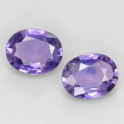 Medium Violet Sapphire Gem - 0.4ct Oval Facet (ID: 537002)