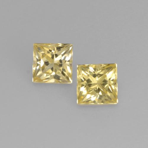 Light Gold Sapphire Gem - 0.2ct Princess-Cut (ID: 537498)