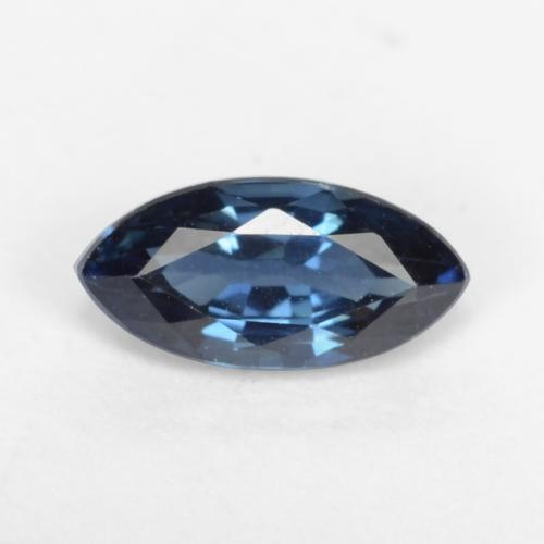Navy Blue Sapphire Gem - 0.6ct Marquise Facet (ID: 537895)