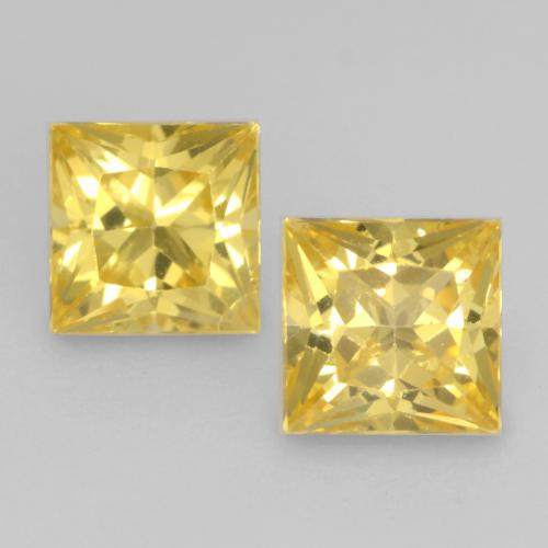 Tuscany Yellow Sapphire Gem - 0.4ct Princess-Cut (ID: 538038)