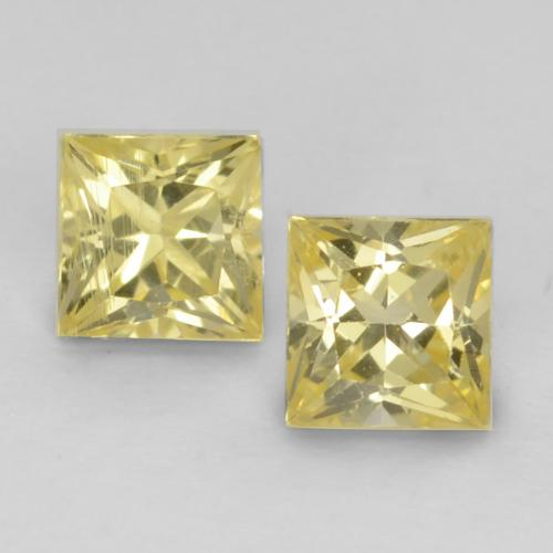 Tuscany Yellow Sapphire Gem - 0.3ct Princess-Cut (ID: 538339)