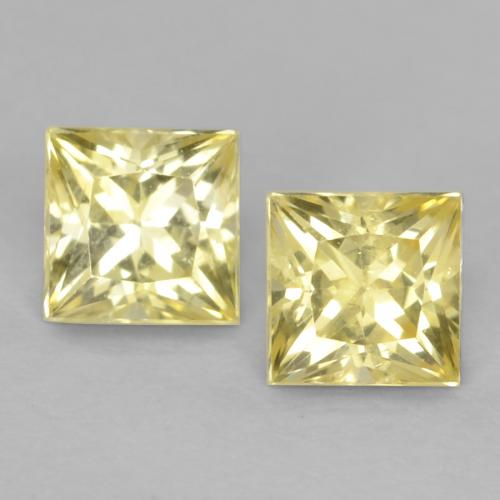 Medium-Light Yellow Sapphire Gem - 0.4ct Princess-Cut (ID: 538347)