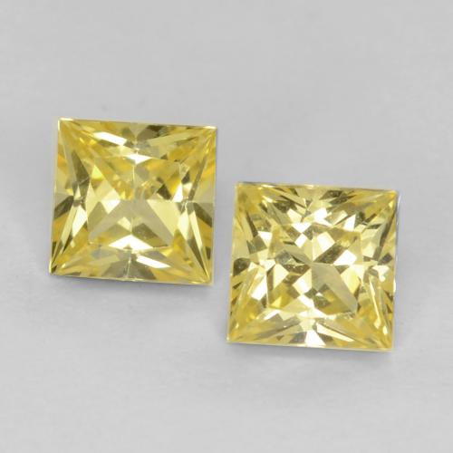 Tuscany Yellow Sapphire Gem - 0.4ct Princess-Cut (ID: 538376)