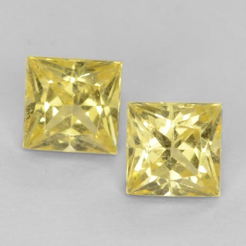 Medium-Light Yellow Zafiro Gema - 0.3ct Corte Princesa (ID: 538377)