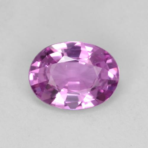 Intense Pinkish Purple Zafiro Gema - 0.6ct Forma ovalada (ID: 538934)
