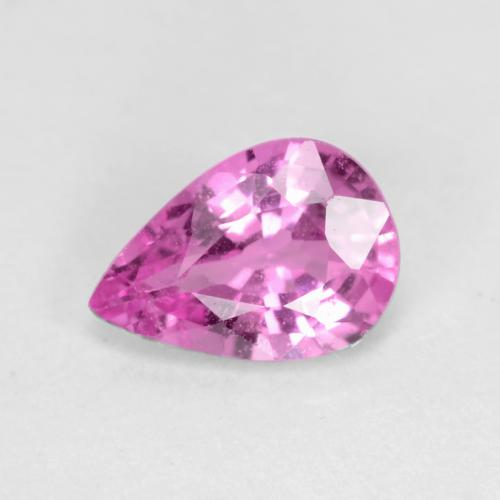 Purple-Pink Sapphire Gem - 0.6ct Pear Facet (ID: 538992)