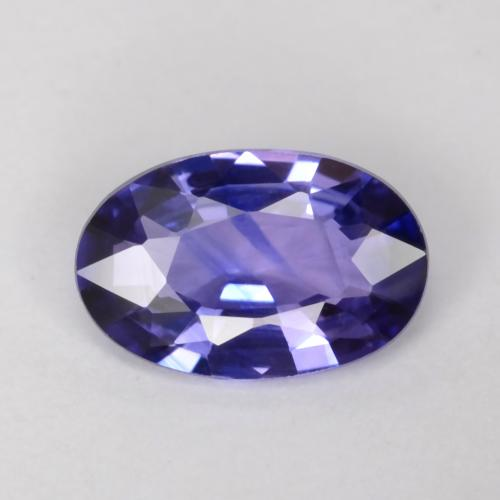 Midnight Blue Sapphire Gem - 0.5ct Oval Facet (ID: 541554)