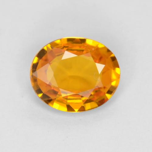 Medium Orange Zaffiro Gem - 0.7ct Ovale sfaccettato (ID: 544632)