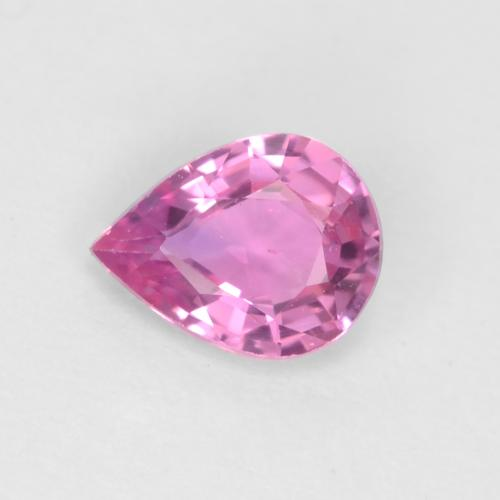 Royal Purple Pink Sapphire Gem - 0.3ct Pear Facet (ID: 544780)