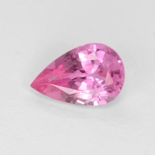 Africa Top Clarity Best for Jewelry.!! 4.44 Carat Pinkish Red Hot{ Lab Created } Wonderful PEAR Facet Nice Vivid Sapphire Madagascar