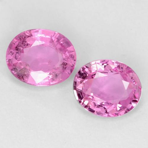 Royal Purple Pink Sapphire Gem - 0.4ct Oval Facet (ID: 544817)