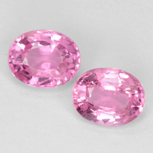 Royal Purple Pink Sapphire Gem - 0.5ct Oval Facet (ID: 545022)