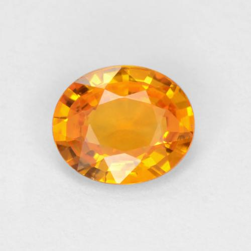 Dark Orange Zafiro Gema - 0.5ct Forma ovalada (ID: 545578)