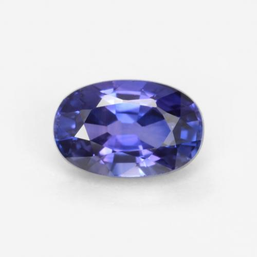 Midnight Blue Sapphire Gem - 0.6ct Oval Facet (ID: 546731)
