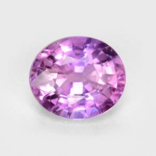 Medium-Dark Purple Zafiro Gema - 0.5ct Forma ovalada (ID: 546867)