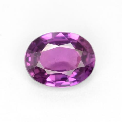 Intense Purple Sapphire Gem - 0.4ct Oval Facet (ID: 546868)