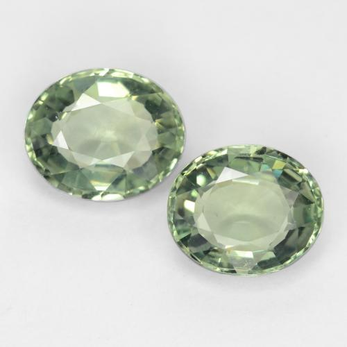 Medium Light Green Zafiro Gema - 0.8ct Forma ovalada (ID: 549031)
