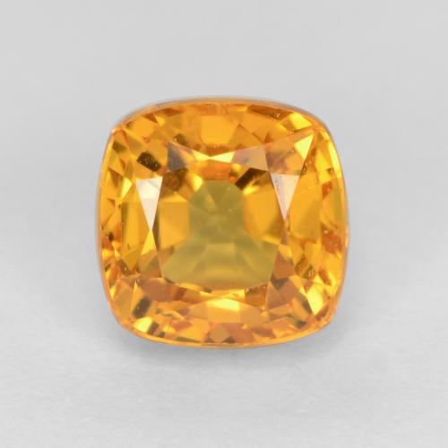 Deep Orange-Gold Zafiro Gema - 0.8ct Corte en Forma Cojín (ID: 550797)