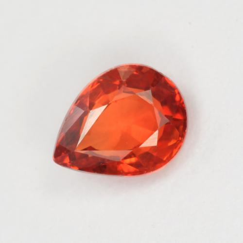 Medium Red Zafiro Gema - 0.4ct Corte en forma de pera (ID: 551449)