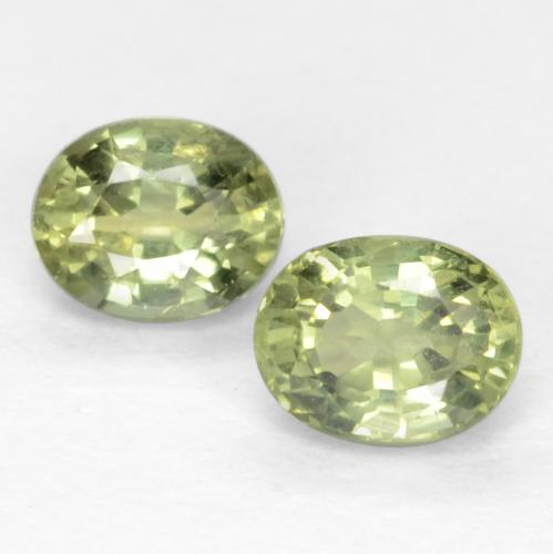 Warm Green Sapphire Gem - 0.3ct Oval Facet (ID: 551496)