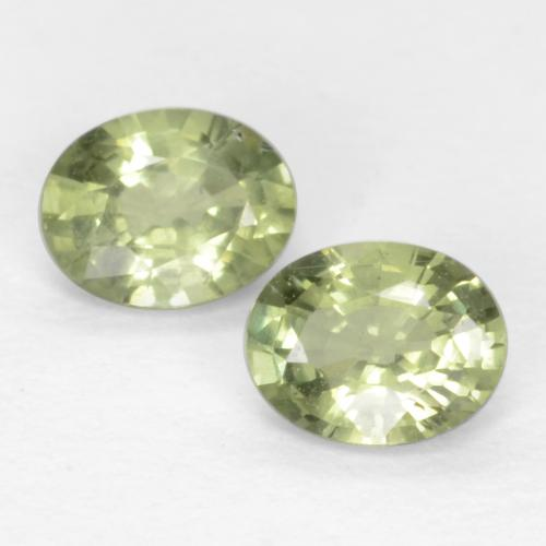 Warm Green Sapphire Gem - 0.2ct Oval Facet (ID: 551502)