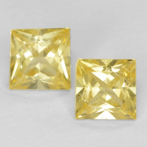 Medium-Light Yellow Sapphire Gem - 0.3ct Princess-Cut (ID: 552094)